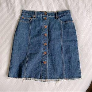 Gap High Rise Button up Jean Skirt